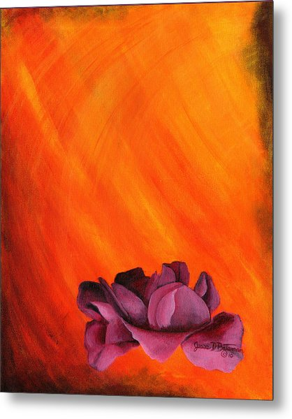 Lotus Rose Metal Print