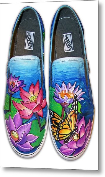 Lotus Shoes Metal Print