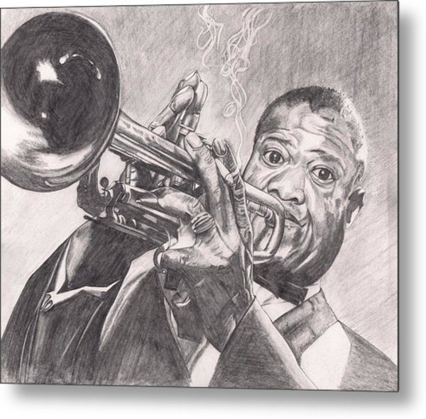 Louie Armstrong Metal Print by Beverly Marshall