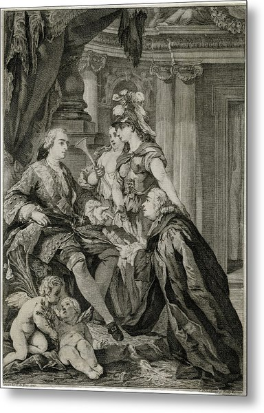 Louis Xv             Accepts Metal Print by Mary Evans Picture Library