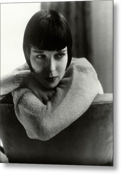 Louise Brooks On A Chair Metal Print