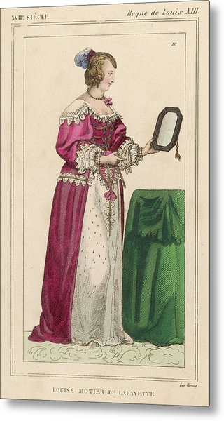 Louise Mottier De La Fayette  French Metal Print by Mary Evans Picture Library