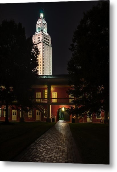 Louisiana State Capitol And Pentagon Barracks Metal Print