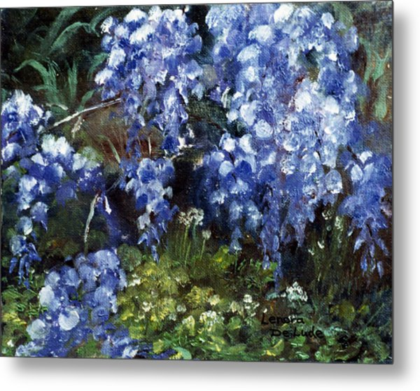 Louisiana Wisteria Metal Print