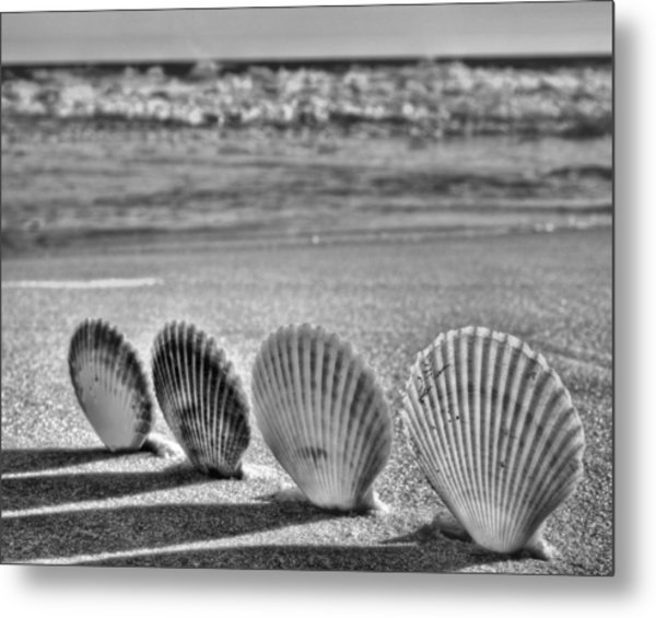 Lounging In Destin Bw Metal Print by JC Findley