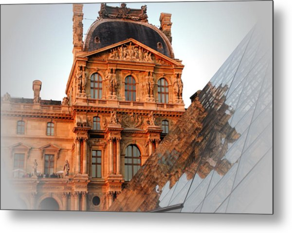Louvre And Pei Metal Print by Jacqueline M Lewis