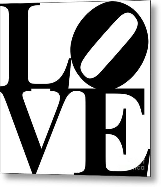 Love 20130707 Black White Metal Print