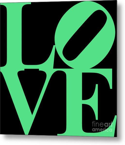 Love 20130707 Green Black Metal Print by Wingsdomain Art and Photography