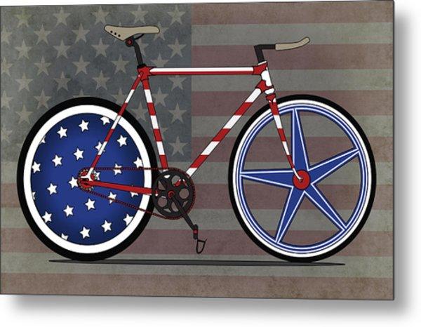 Love America Bike Metal Print