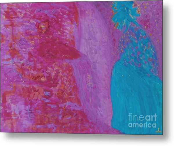 Metal Print featuring the painting Love And Bliss by Ilona Svetluska