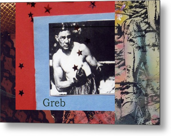 Love And War Greb Metal Print
