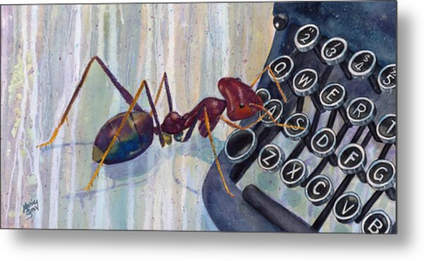 A Is For Ant Metal Print