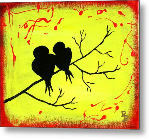 Love Birds Art Metal Print