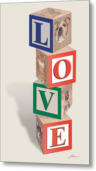 Love Blocks Metal Print by Harold Shull