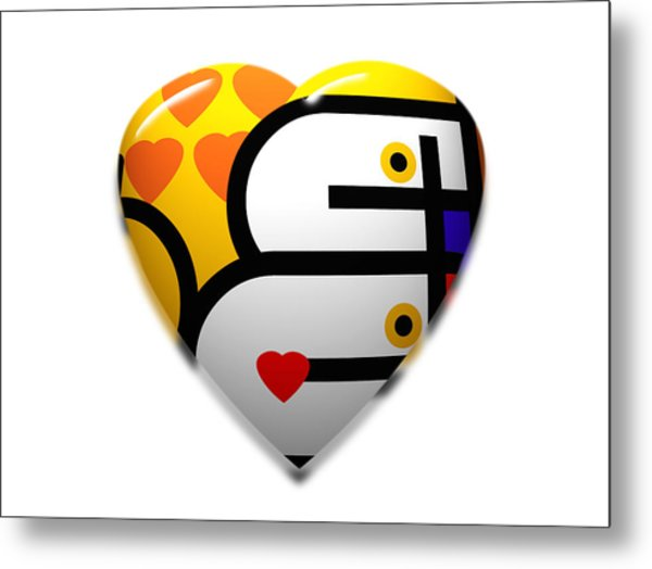 Love Heart Pop Metal Print