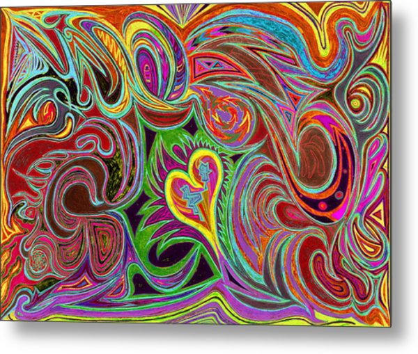 love in every shade of U v7 - love in every shade of blue Metal Print