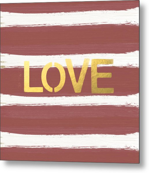 Love In Gold And Marsala Metal Print