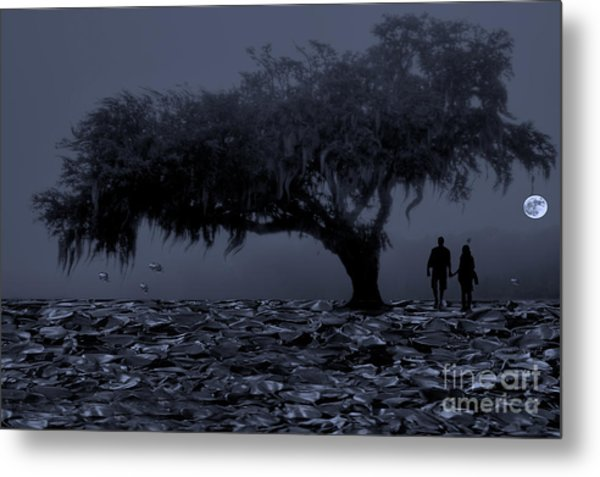 Love In Moon Light Metal Print