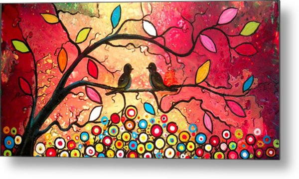 Love In The Air With Flowers Everywhere Metal Print