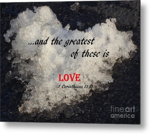 Love Is Great Metal Print