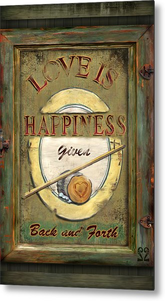 Love Is Happiness Metal Print