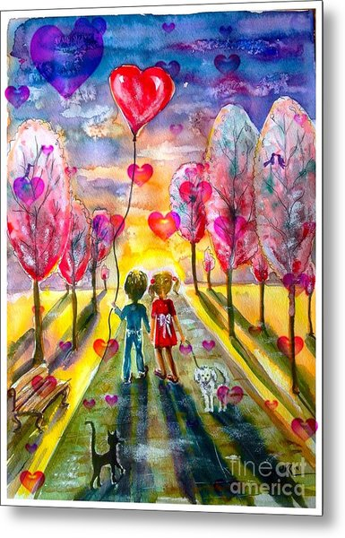 Love Is In The Air 2 Metal Print
