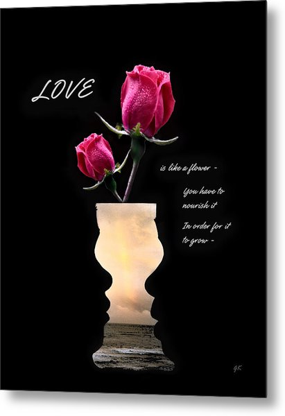 Love Is Like A Flower Metal Print