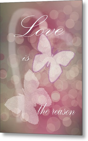 Love Is The Reason Metal Print