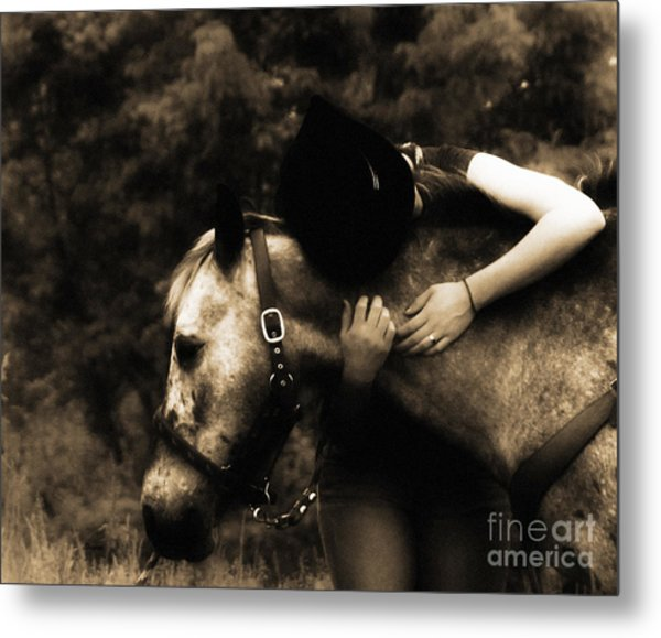 Love Like A Cowgirl Metal Print by Steven Digman
