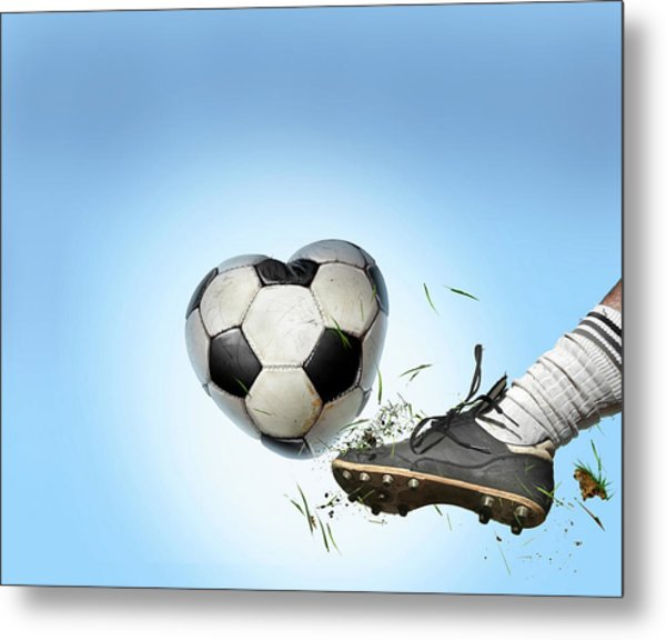 Love Of Football Metal Print