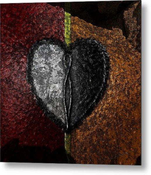 Love On The Line Metal Print