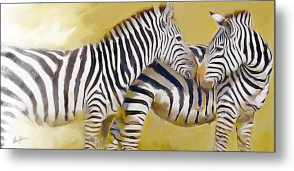 Love On The Savanna Metal Print