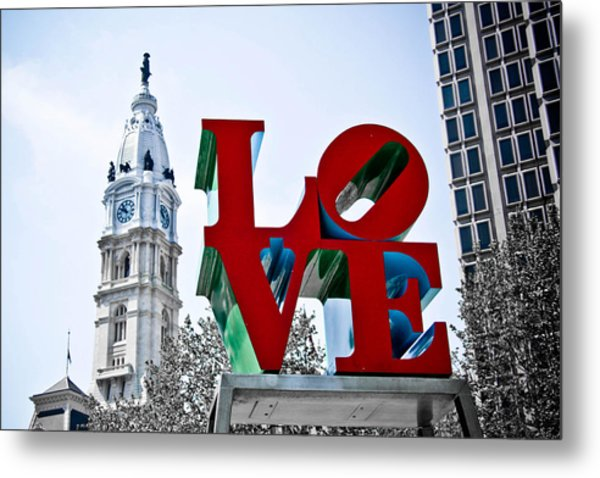 Love Park And City Hall Metal Print