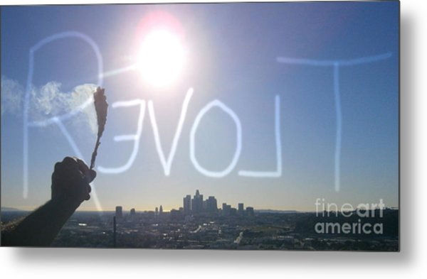 Love Revolt Metal Print by Drew Shourd