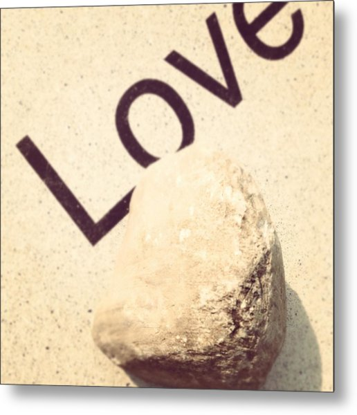 Love Rocks Metal Print