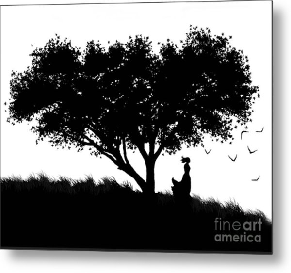 Love Stands Waiting Metal Print by Robert Foster