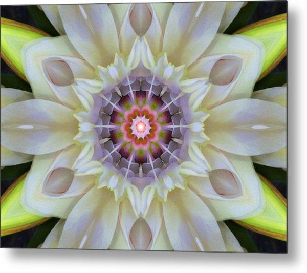Love Star Flower Mandala Metal Print