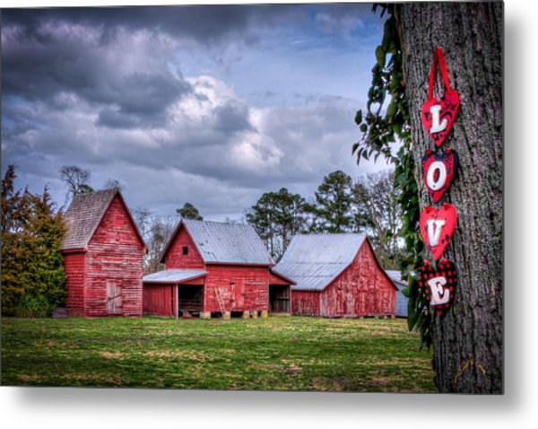 Love The Barns At Windsor Castle Metal Print by Williams-Cairns Photography LLC