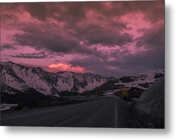 Loveland Pass Sunset Metal Print