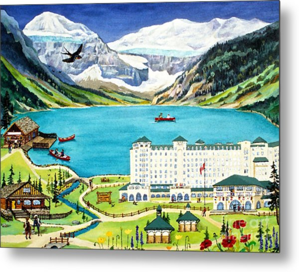 Lovely Lake Louise Metal Print