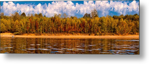 Lovers On The Bank Metal Print