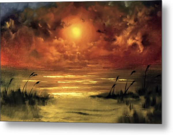 Lovers Sunset Metal Print