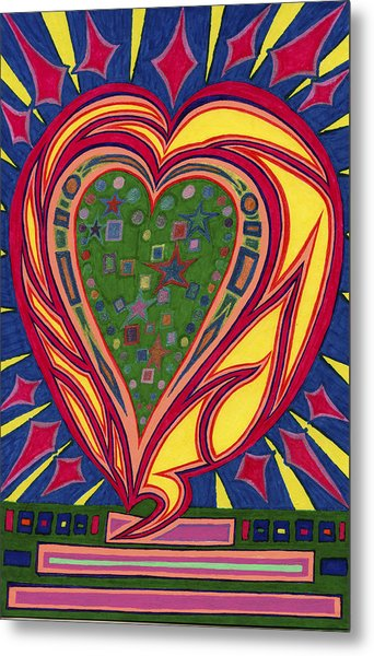 Love's Brilliance Illuminated Metal Print