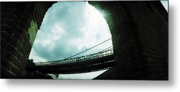 Low Angle View Of A Bridge, Brooklyn Metal Print