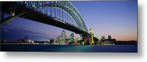 Low Angle View Of A Bridge, Sydney Metal Print