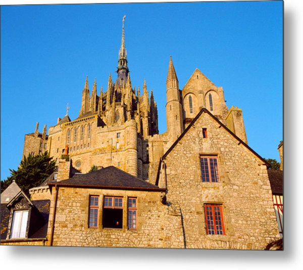 Low Angle View Of Buildings At Mont Metal Print