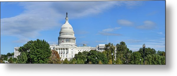 Low Angle View Of Capitol Building Metal Print
