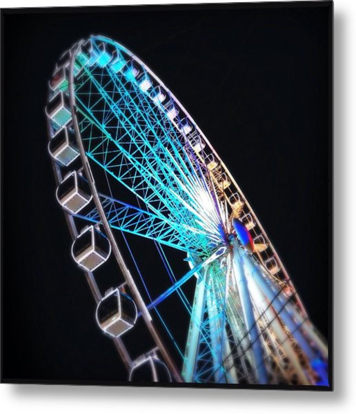 Low Angle View Of Illuminated Ferris Metal Print by Kenneth Shelton / Eyeem