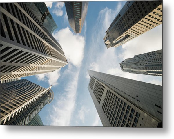 Low Angle View Of Modern Office Metal Print by Thant Zaw Wai