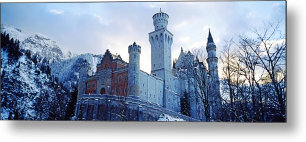 Low Angle View Of The Neuschwanstein Metal Print